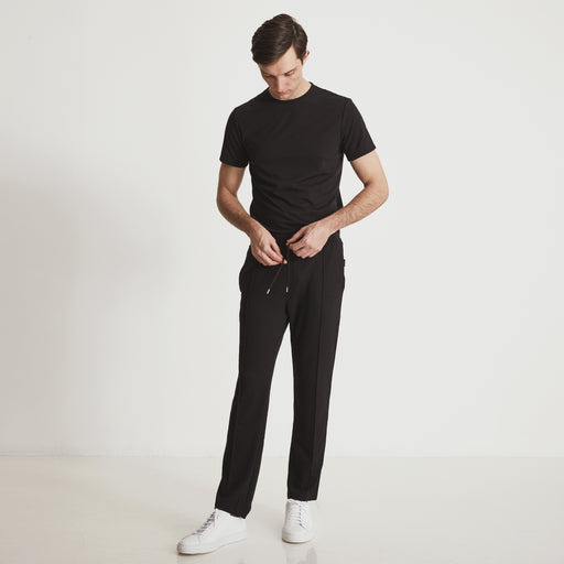 GARROS PINTUCK SLACKS---Black