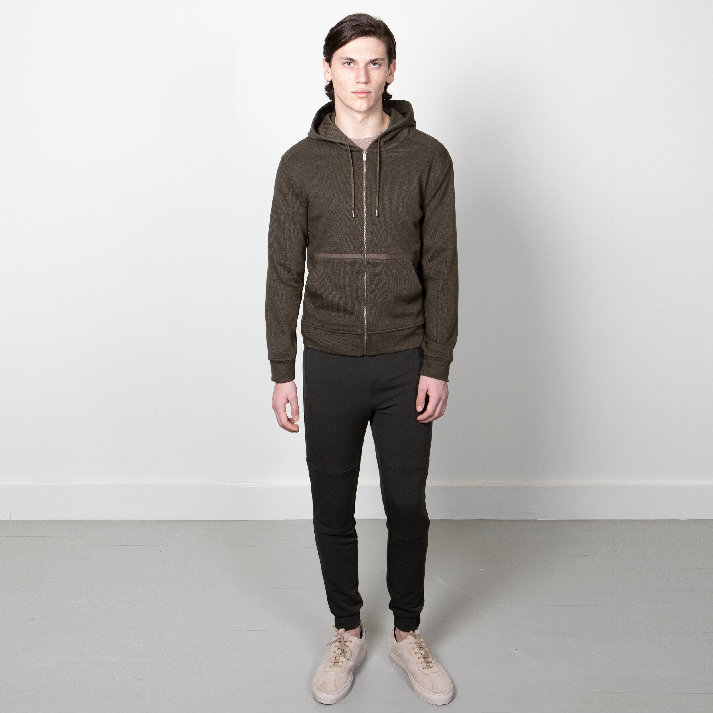 GERMAIN HOOD FULL ZIP - Fall Olive