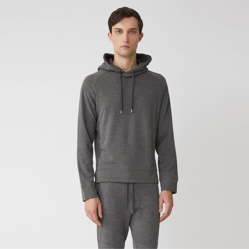 MASON HOOD PULLOVER---Dark Grey Heather