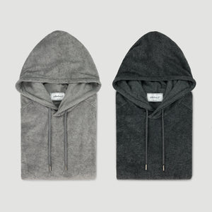 POOLSIDE HOOD PULLOVER - MIDNIGHT HEATHER