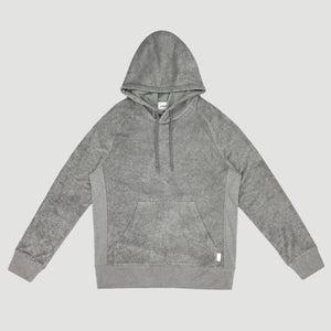 POOLSIDE HOOD PULLOVER - GREY HEATHER