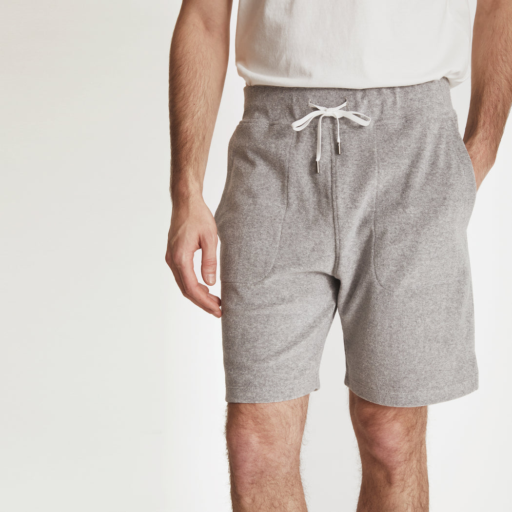 POOLSIDE SHORT---Light Grey Heather
