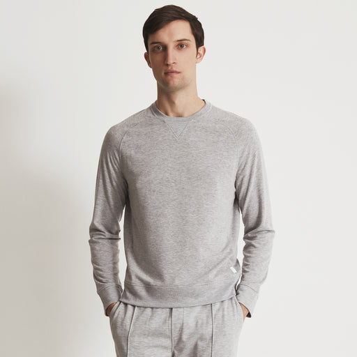 POST-GYM SWEATSHIRT---Light Grey Heather