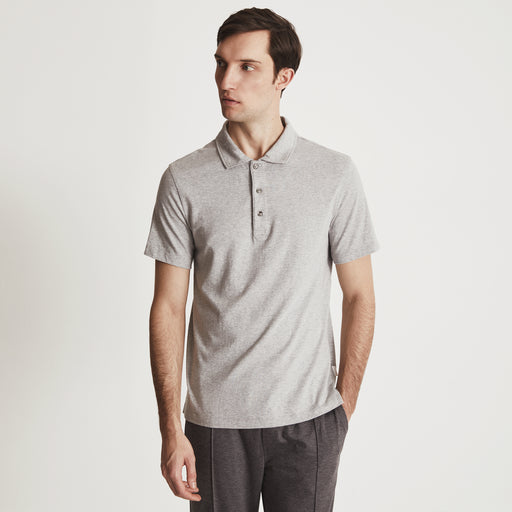 RIVIERA POLO SHIRT---Light Gray Heather