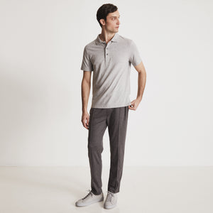 RIVIERA POLO SHIRT - Light Gray Heather