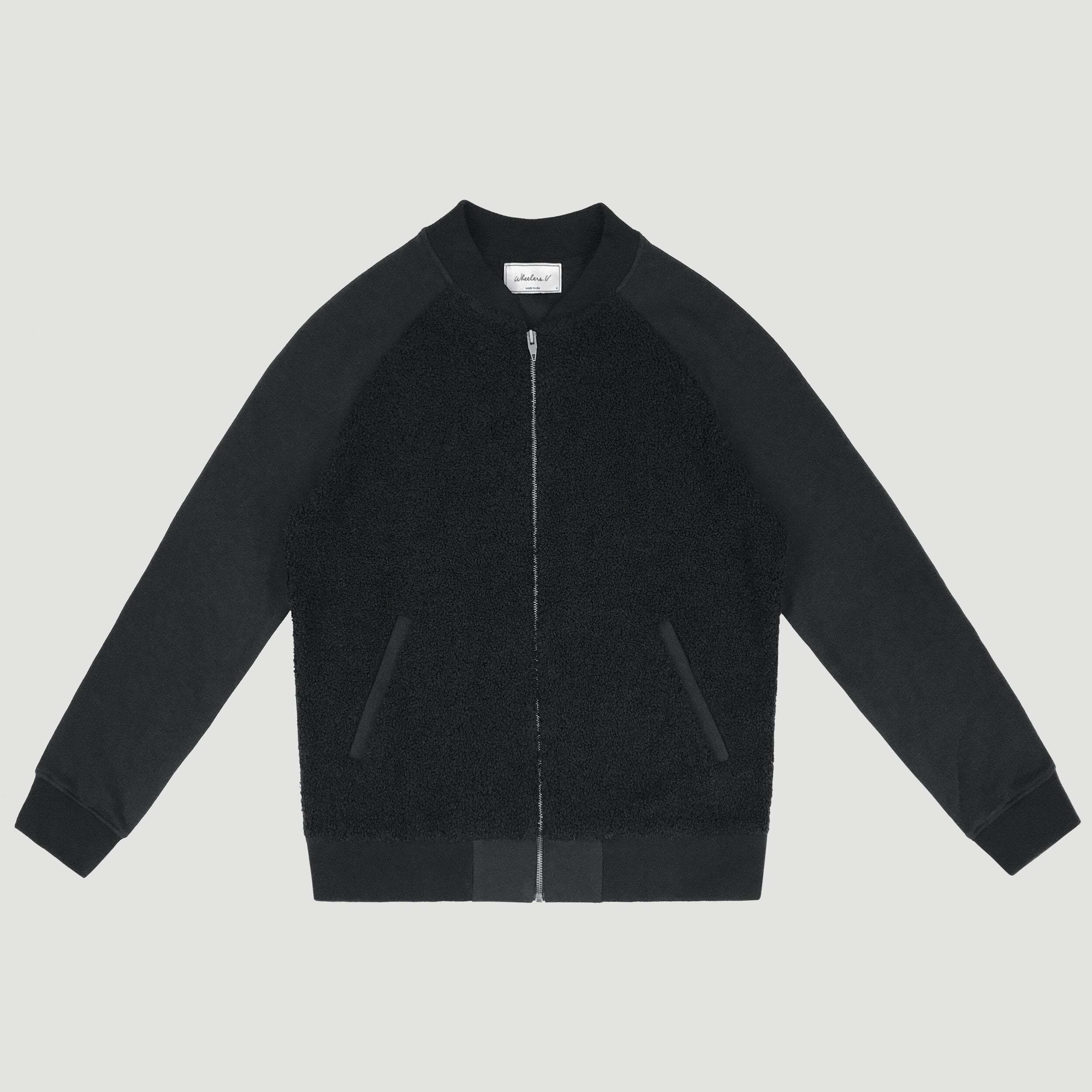 TEDDI BOMBER JACKET - BLACK