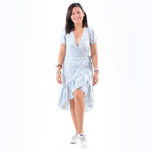 Winona Wrap Dress - Baby Blue