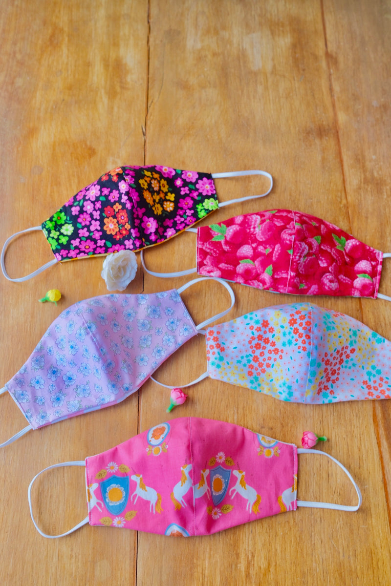 Spring Bouquet Set - Adult Reversible Masks