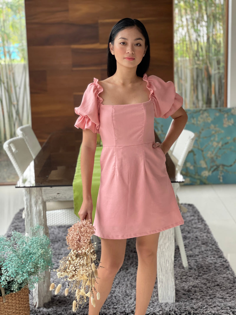 Clarence Dress in Italian Rose