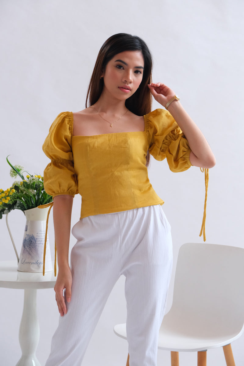 Paris Top in Regular Length - Mustard
