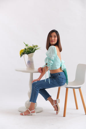 Paris Cropped  Top - Mint Green
