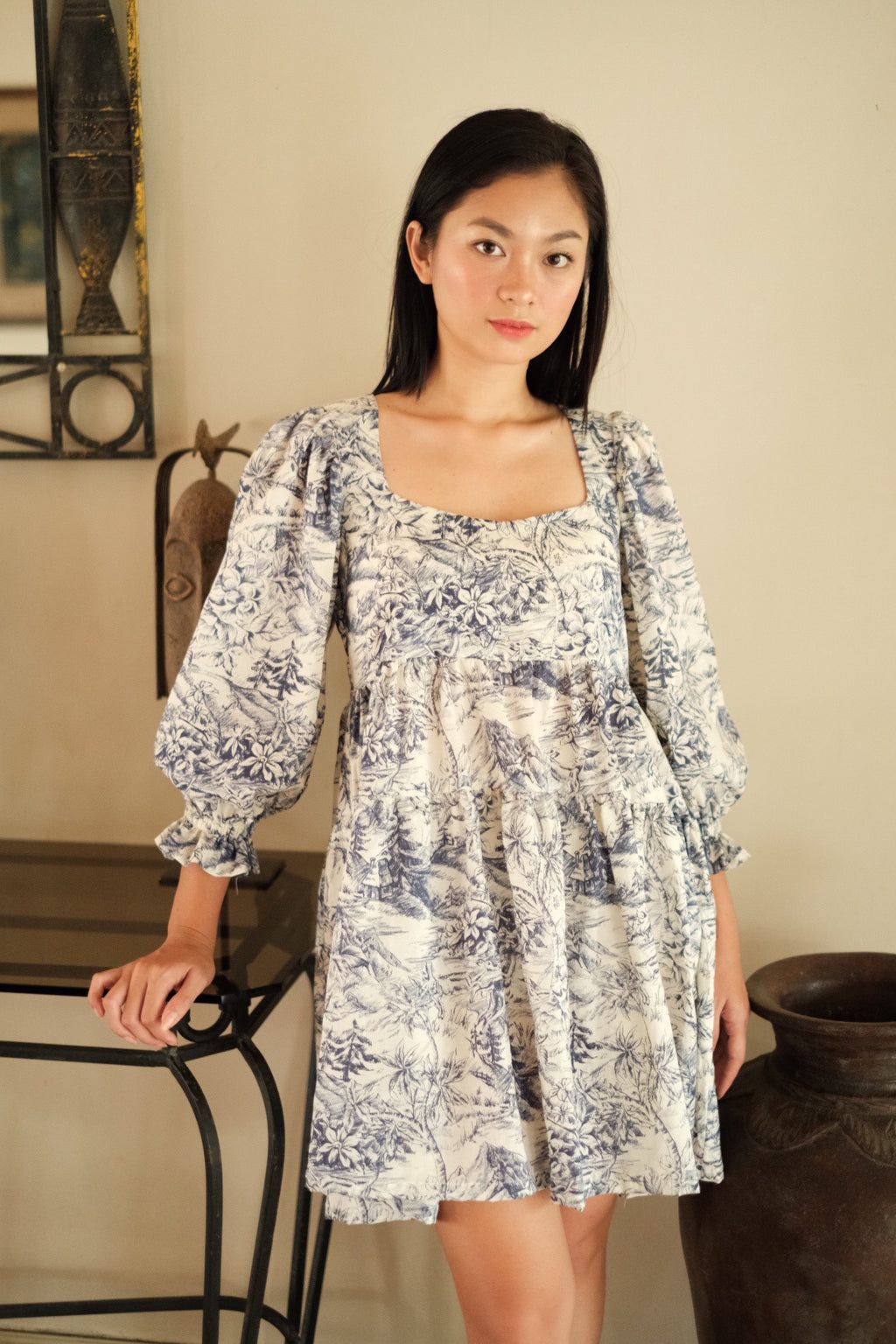 Roselyn Dress in Silvermist