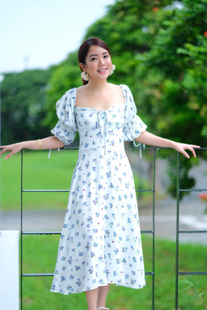 Ysabel Dress in Soft Sky