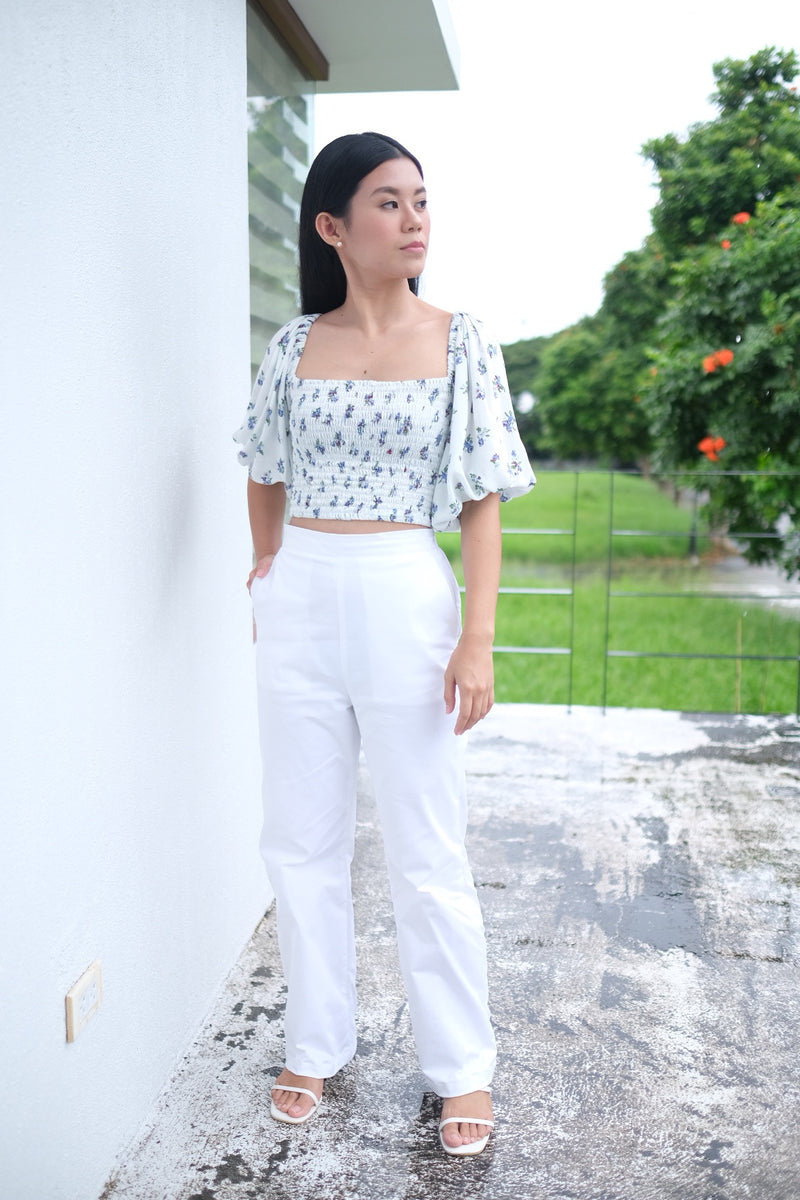 Serena Wide leg Pants in White