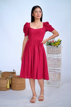 Marlowe Midi in Red Wine