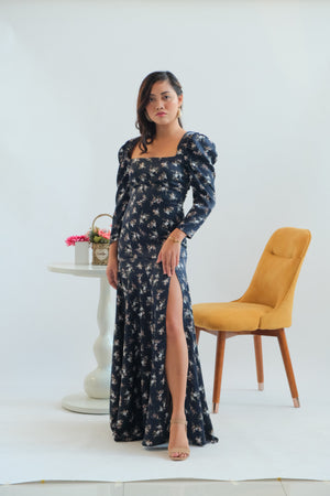 Daffodil Maxi Dress in Dark Woods