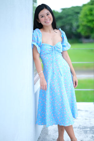 Abbey Dress in Balmy Blue