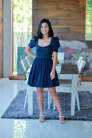 Marlowe Mini Dress in Midnight Blue
