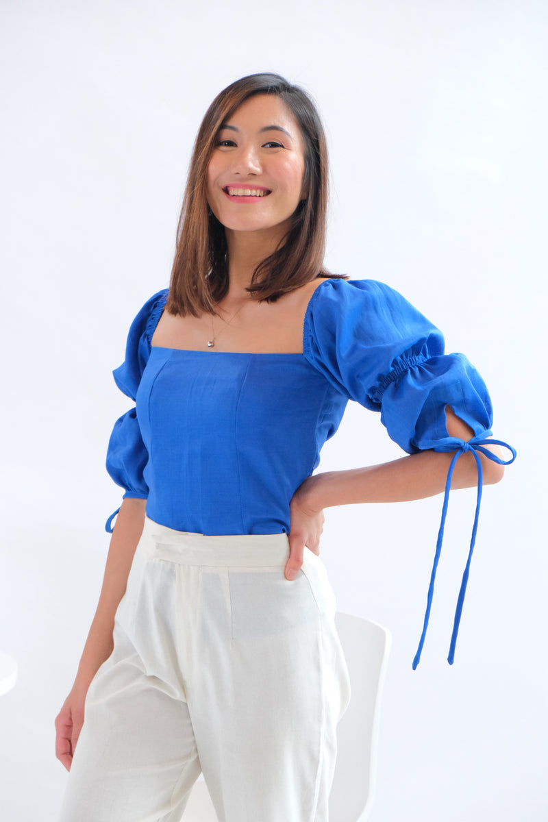 Paris Top in Regular Length - Royal Blue