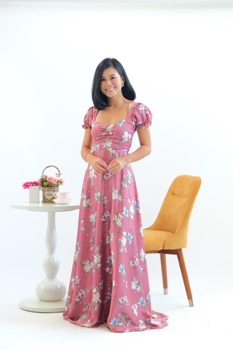 Dandelion Maxi Dress in Razzleberry
