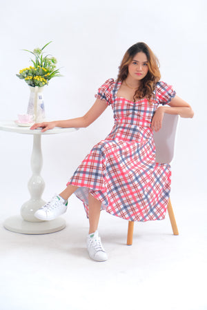 Madrid Dress in Checkered Glam