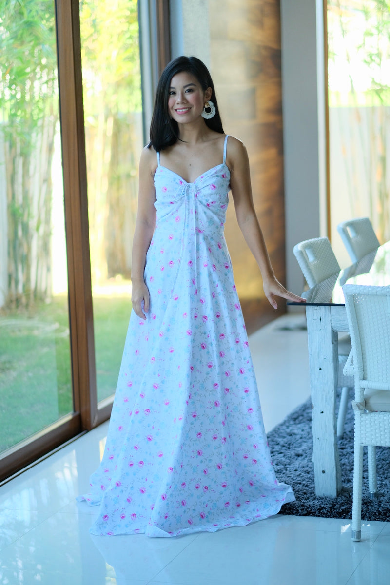 Alexa Dress in Floral White