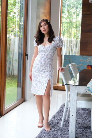 Venice Dress in White Floral