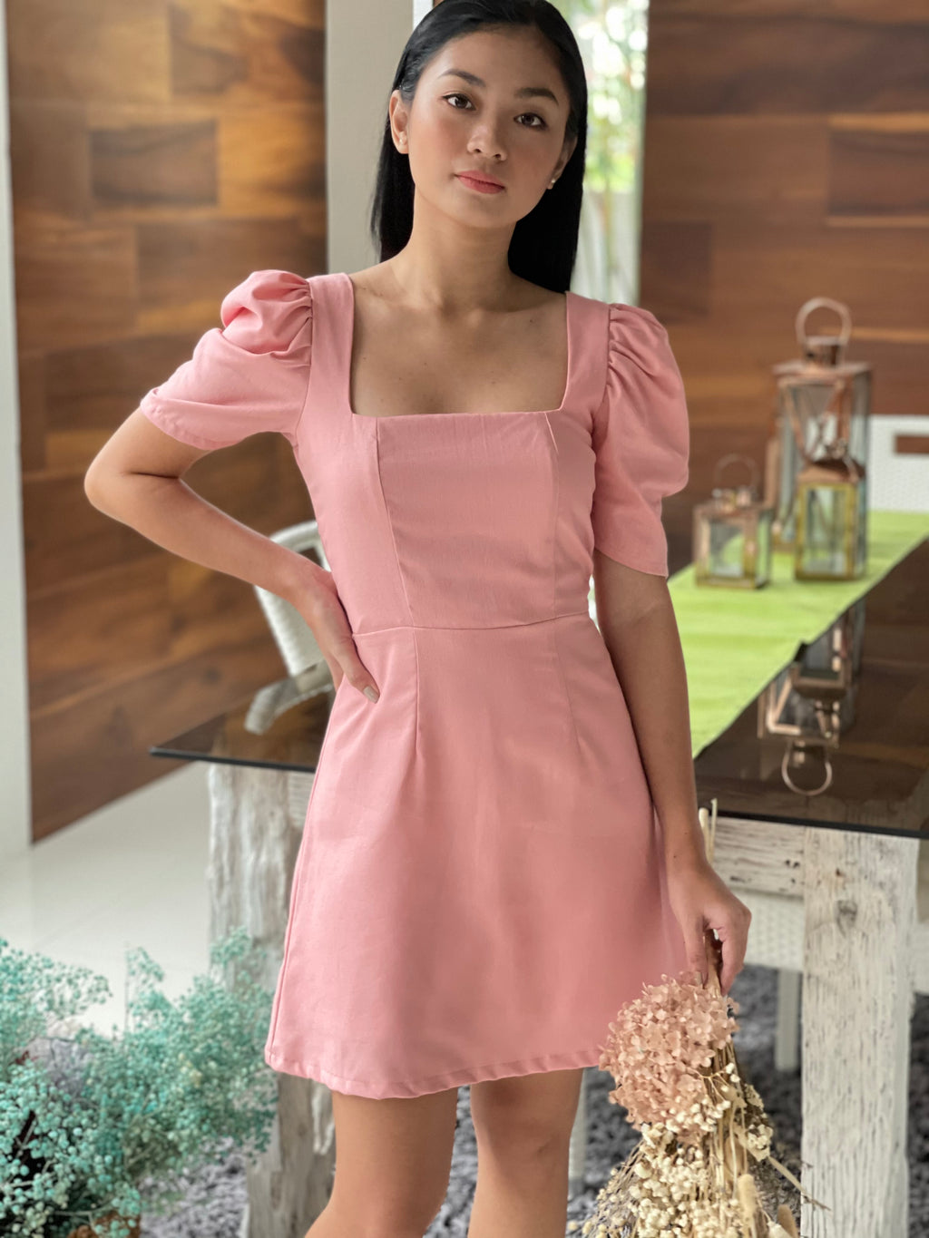 Aubrey Dress in Italian Rose