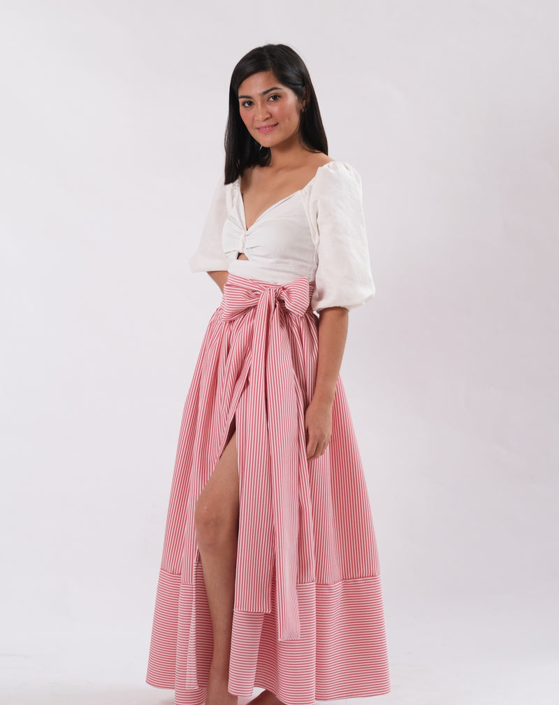 Alona Maxi Skirt - Dark Salmon
