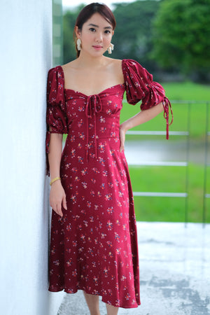 Ysabel Dress in Merry Merlot