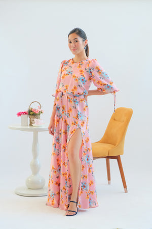 Alana Maxi Dress in Pink Sea