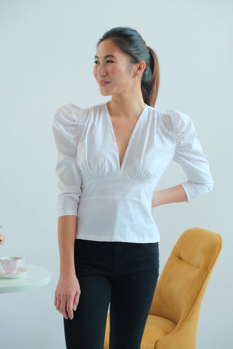Doreen Top in White
