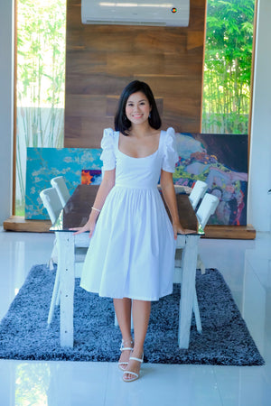 Marlowe Mid Length Dress in White