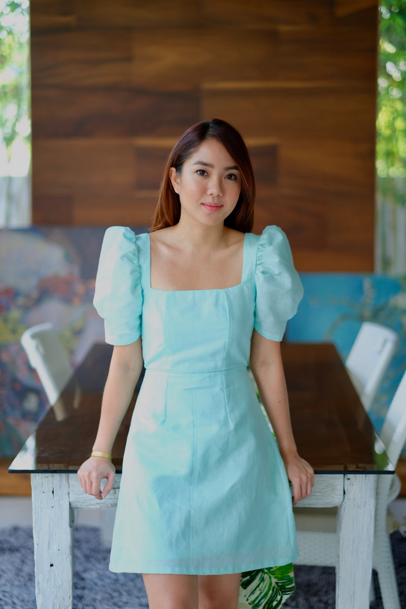 Aubrey Dress in Mint Magic