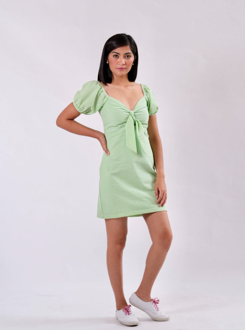 Molly Seersucker Dress - Light Green