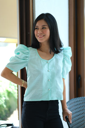 Adriana Top in Mint Magic