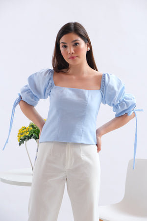 Paris Top in Regular Length - Powder Blue