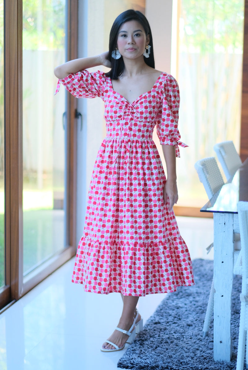 Monica Dress in Apple