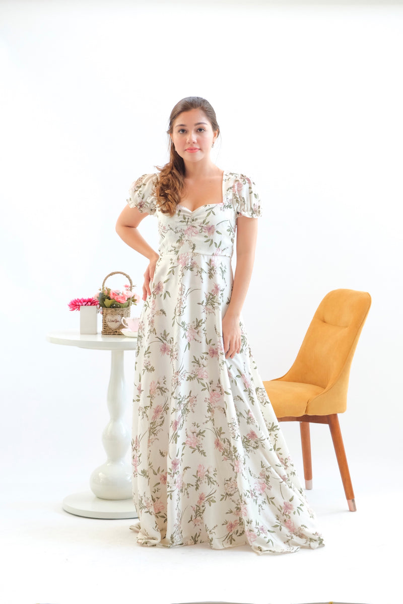 Dandelion Maxi Dress in Winter Beach