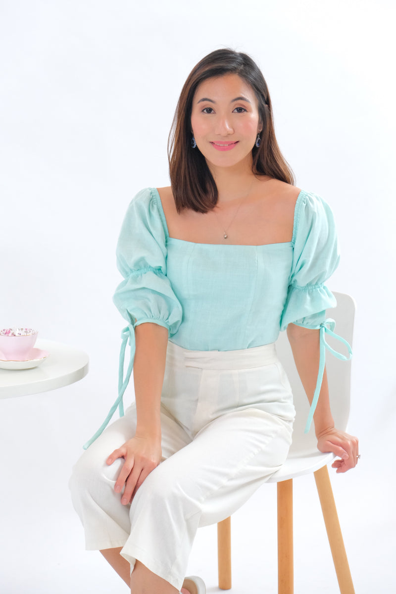 Paris Top in Regular Length - Mint Green