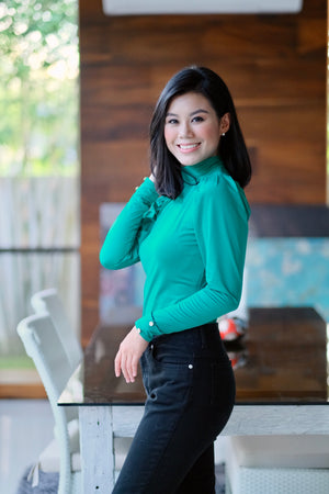 Melody Top in Emerald Green