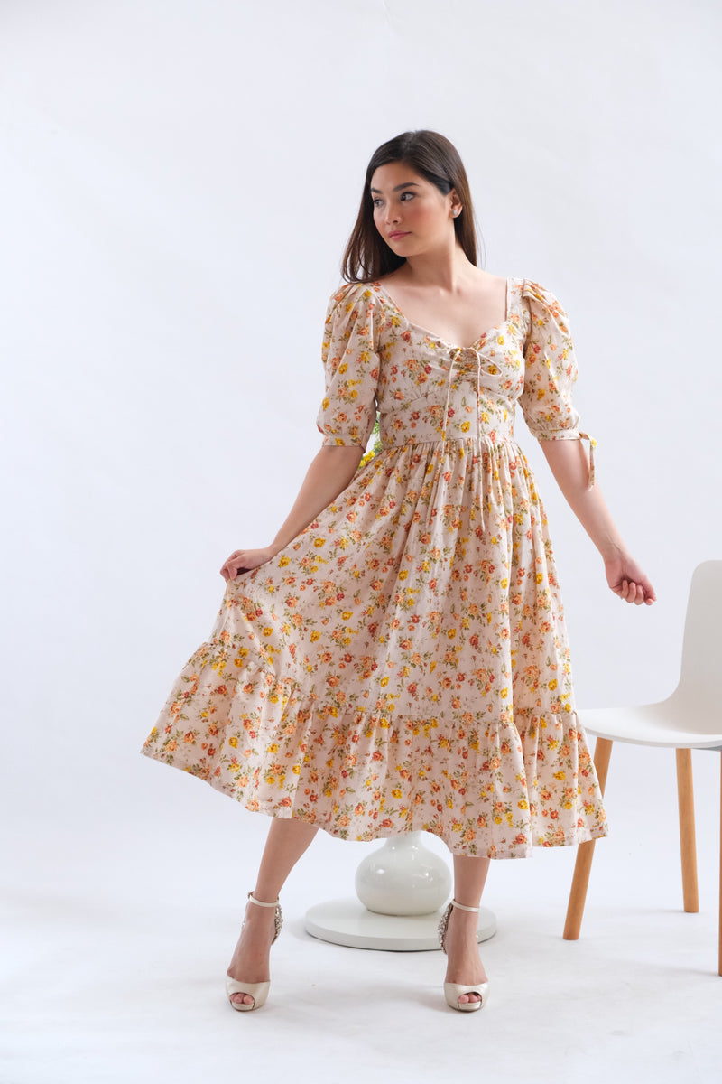 Monica Dress in Azalea