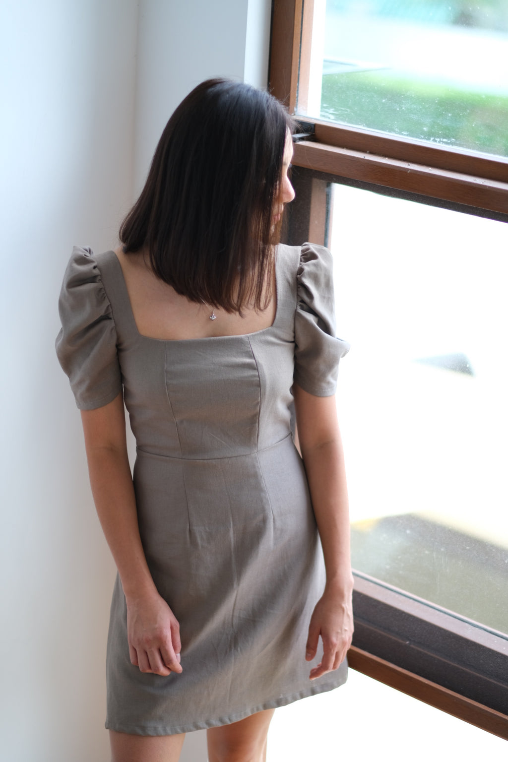Aubrey Dress in Taupe