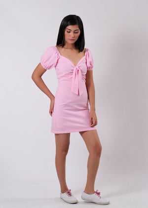 Molly Seersucker Dress - Pink