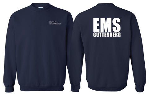 Guttenberg Municipal Hospital EMS - (8 oz) Heavy Blend Crewneck Sweatshirt - SCREEN PRINT - 18000