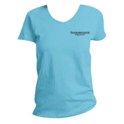Telegram Hanes Ladies ComfortSoft V-Neck Tshirt