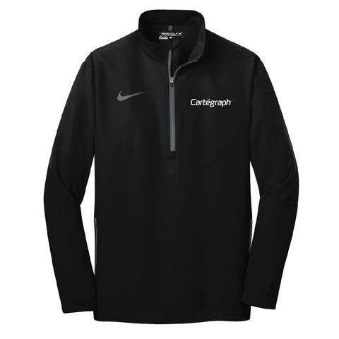 Cartegraph Nike Golf 1/2-Zip Wind Shirt (Mens)