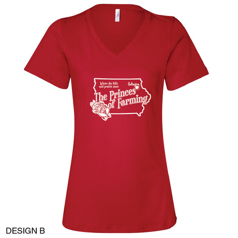 Arlington Community Center Relaxed Fit Ladies V-Neck Tee Design B