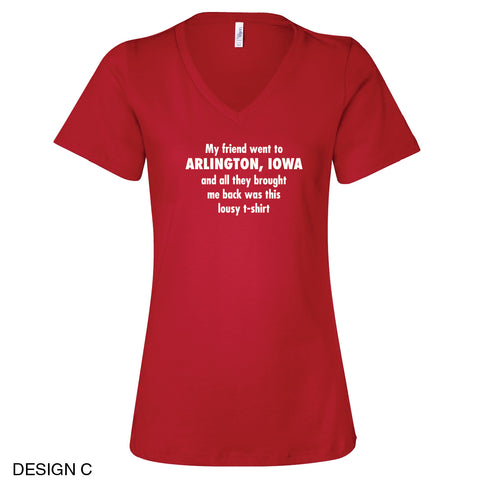 Arlington Community Center Relaxed Fit Ladies V-Neck Tee Design C