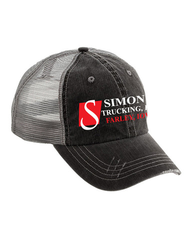 Simon's Trucking Low Profile Cotton Twill Mesh Cap